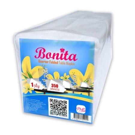 Bonita Quarter Folded Table Napkin 1-Ply 350 Sheets