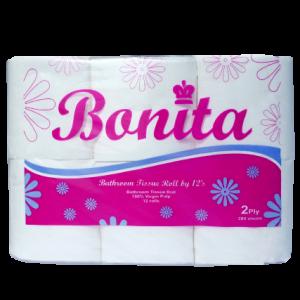 Bonita Tissue Roll 2-Ply 300 Sheets by 12s