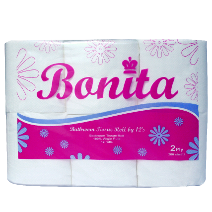 Bonita Tissue Roll 2-Ply 300 Sheets by 12s