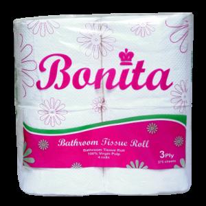Bonita Tissue Roll 3-Ply 450 Sheets by 4s