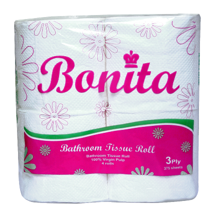 Bonita Tissue Roll 3-Ply 450 Sheets by 4s