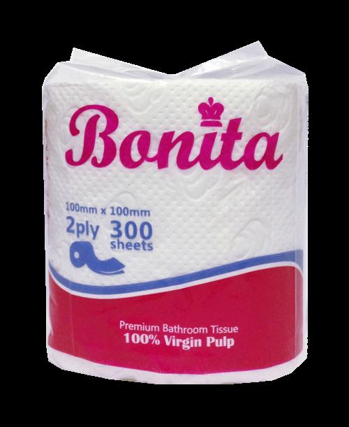 Bonita Bathroom Tissue 2-Ply 300 Sheets Singles