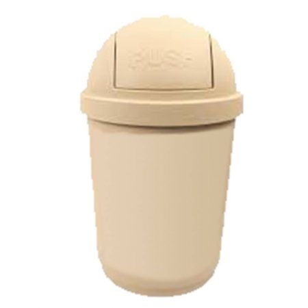 Round Trash Bin with Cover