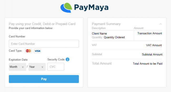 PayMaya Email Invoice