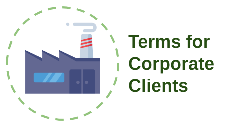 Terms for Corporate Clients