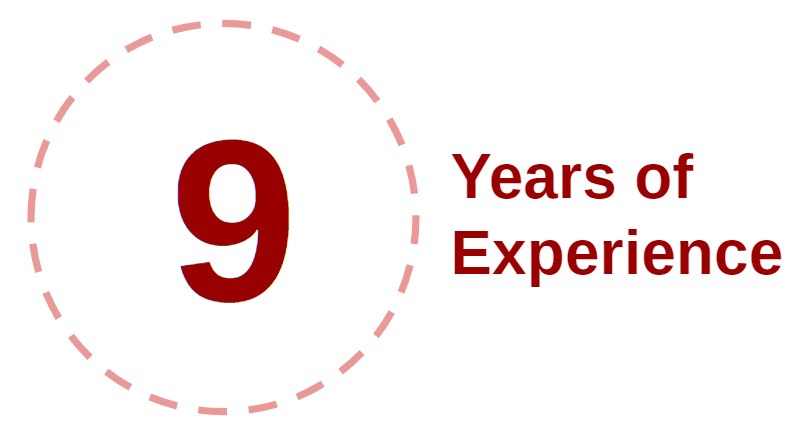 9 Years of Experience