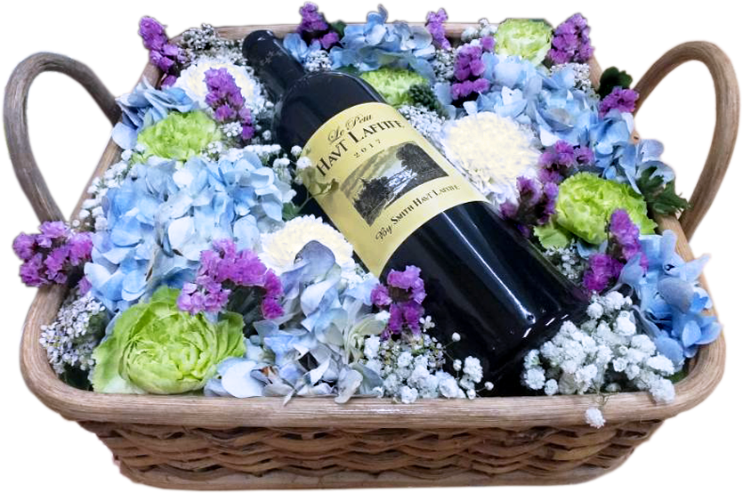 Flower and Wine Basket